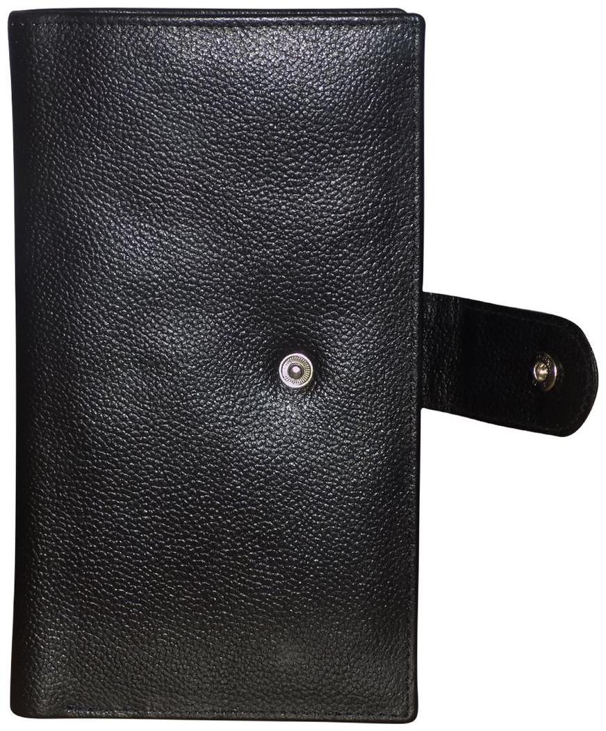 Style 98 Black Leather Card Holder with 18 Card Slots Travel Passport cum Organizer For Women and Men by Kan International