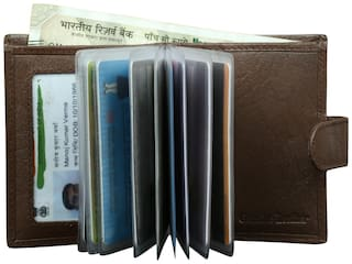 STYLE 98 Men Brown Leather Money Clip Wallet ( Pack of 1 )