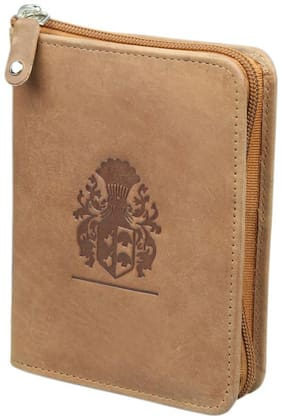 STYLE 98 Unisex Leather Card holder - Tan