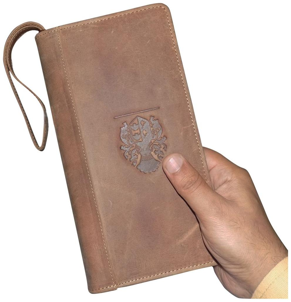 Style 98 Tan Premium Quality Leather Travel Document Holder/Passport Wallet For Men and Women by Kan International