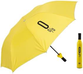 Style Homez Fashionable Wine Bottle Yellow 110 cm Travel Stylish 3 Fold Umbrella