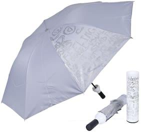 Style Homez Fashionable Wine Bottle White Cover 110 cm Travel Stylish 3 Fold Umbrella