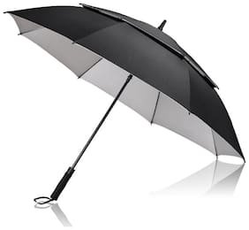 Style Homez Luxury Collection Extra Large Auto Open Golf Umbrella, Wind Proof Vent Canopy Black Color (150 cm | 60 inch)