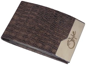 STYLE SHOES Men Pu Card holder - Brown , Pack of 1