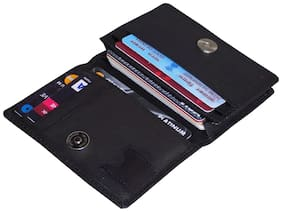 STYLE SHOES Men Leather Card holder - Black , Pack of 1