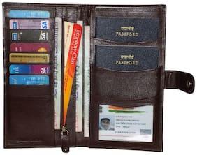 Style98 100% leather Passport Holder  Boarding Pass Holder  Credit Card Holder  Chequebook holder  Travel Organizer
