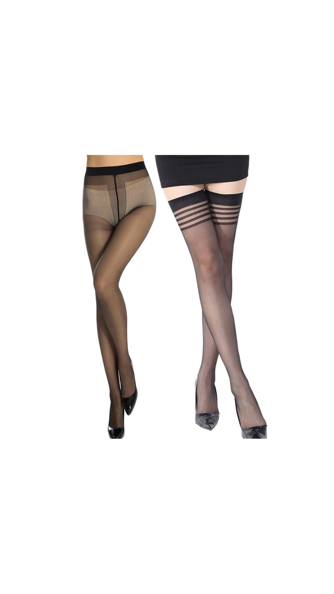 6531d2899 https   assetscdn1.paytm.com images catalog product . Stylefolio Combo of Women s  Pantyhose and Thigh High Stockings Excellent Stretch Long Comfort Sheer ...
