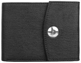 Styler King Men Black Synthetic leather Tri Fold Wallet ( Pack of 1 )
