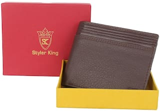 Styler King Men Brown Synthetic leather Bi-Fold Wallet ( Pack of 1 )
