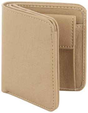 Styler King Men Beige Synthetic leather Bi-Fold Wallet ( Pack of 1 )