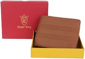 Styler King Men Tan Synthetic leather Bi-Fold Wallet ( Pack of 1 )