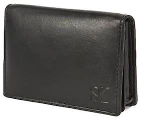 STYLER KING Black Genuine Leather Card Holder