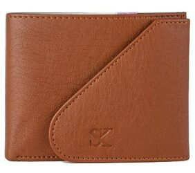 Styler King Men Faux Leather Bi-fold Wallet - Tan