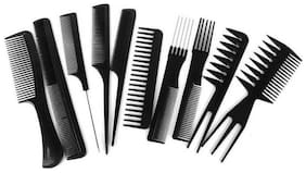 Stylewell 10pcs Professional Parlour & Barber Salon Different Hair Comb Set Good For Men & Women Hair Styling Hairdressing