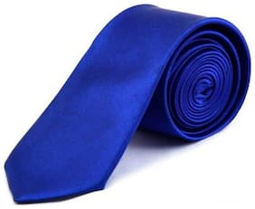 Stylewell Solid Best Quality Royal Blue 2 Inches Casual And Formal Satin Neck Tie For Men's