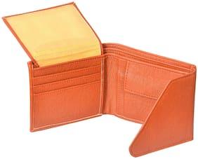 Stylish Leatherite Wallet For Men In Tan