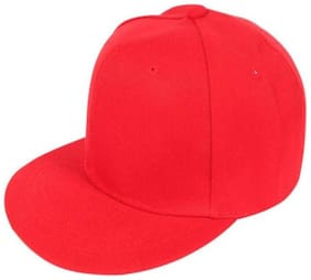 Stylish Looks Red Cotton Hip Hop Cap