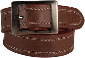 Stylish look Leatherite Brown needle pin point belt For Men