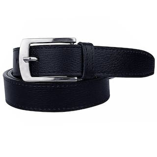 Stylish look Leatherite Black Needle Pin Point Belt For Men