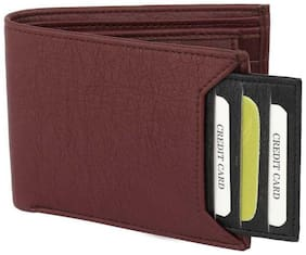 stylish wallet separable pocket pure leather (pu) wallet (mix brown & black bacha  -1)