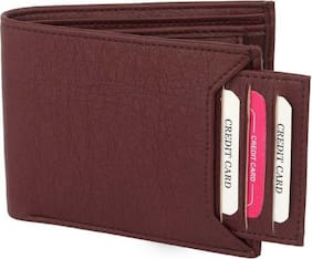 stylish wallet separable pocket pure leather (pu) wallet ( Brown bacha- 2)