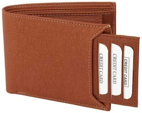 stylish wallet separable pocket pure leather (pu) wallet ( tan bacha -1)