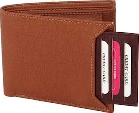 stylish wallet separable pocket pure leather (pu) wallet ( mix Tan &brown bacha -1)