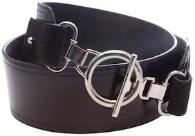 Stylogy Three Link Black Leather Belt (Size-S)
