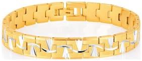 Sukkhi Elegant Gold And Rhodium Plated Bracelet for Men