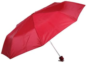 Summer special Simple Round handle D4 Umbrella (Red)