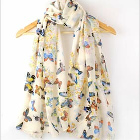 Summer Women's Chiffon Scarf Long Floral Silk Wrap Shawl Scarves Neck Stole
