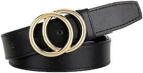 Sunshopping Women Synthetic Belt - Black