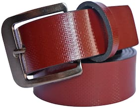 Sunshopping Men Maroon Synthetic leather Belt (Size: 36 , Pack of 1 )