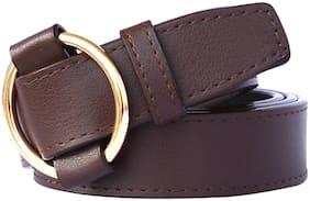 Sunshopping Women Synthetic Belt - Brown