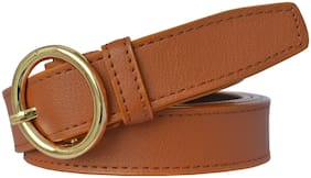 Sunshopping Women Synthetic Belt - Tan