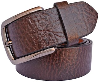 Sunshopping Men Brown Leather Belt (Size: 32 , Pack of 1 )