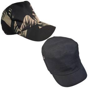 Sunshopping men's black and navy blue baseball cap (pack of two)