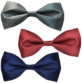 Sunshopping men multi coloured neck bow tie(pack of three)