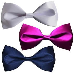 Sunshopping men's multi coloured neck bow tie (Pack of 3)
