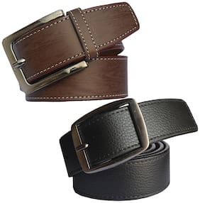 Sunshopping men's Black and Brown  belts combo