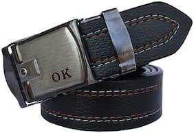 Sunshopping Men Black Synthetic leather Belt (Size: 42 , Pack of 1 )