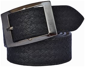 Sunshopping Men Black Synthetic leather Belt (Size: 42 , Pack of 1 )
