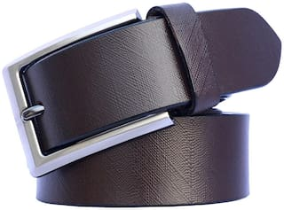 Sunshopping Men Brown Leather Belt (Size: 30 , Pack of 1 )
