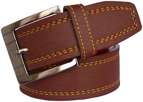 Sunshopping Men Brown Synthetic leather Belt (Size: 32 , Pack of 1 )