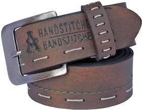 Sunshopping men's Brown Needle Pin Point Buckle  belt
