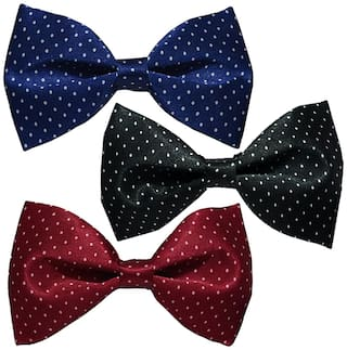 Sunshopping men multi coloured neck bow tie(pack of one)