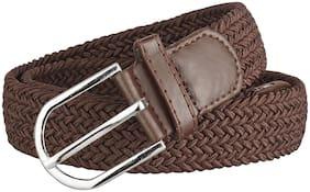 Sunshopping Men's Brown Elastic Belt