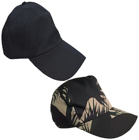 Sunshopping men's black and multi baseball cap (pack of two)