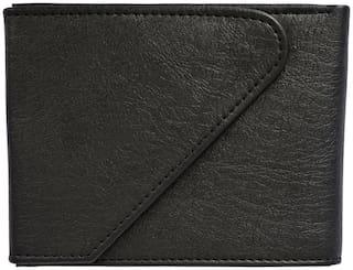 Sunshopping Men Black Synthetic leather Bi-Fold Wallet ( Pack of 1 )
