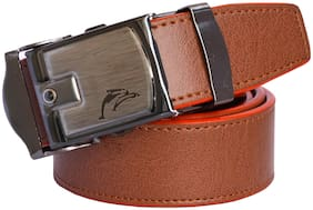 Sunshopping Men Tan Synthetic leather Belt (Size: 28 , Pack of 1 )